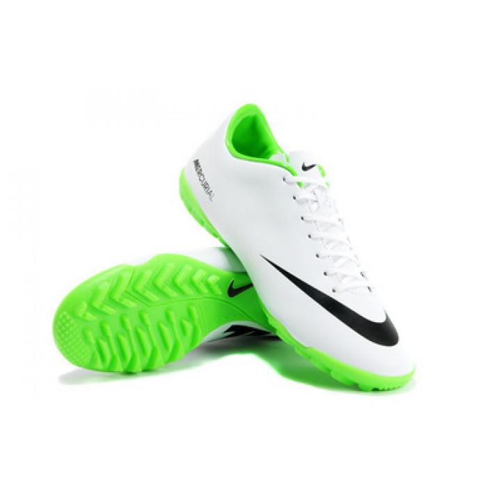 Кроссовки Nike mercurial victory, белый с зеленым